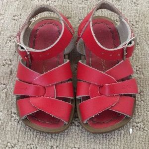 Red Saltwater Sandals - Size Toddler 5